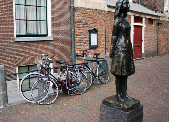The Anne Frank Statue in Amsterdam