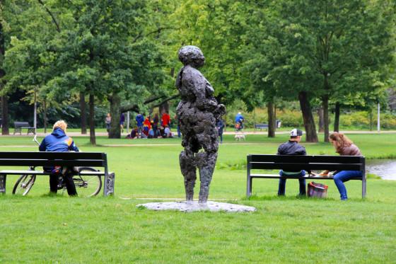 A statue in Vondelpark, Amsterdam
