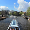 The Amstel River is one of Amsterdam's busiest waterways