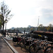 Bikes and barges along the Amstel River
