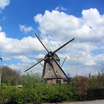 The De Zwaan Windmill along the Amstel River in North Holland