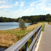 The bike path by the Grote Vijver (Great Pond) in Spaarnwoude