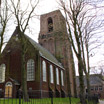 The church in the small village of Randorp, Netherlands