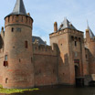 The castle called Muiderslot located in the town of Muiden