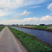 The scenery along Waverdijk on the south side of the Ronde Hoep region